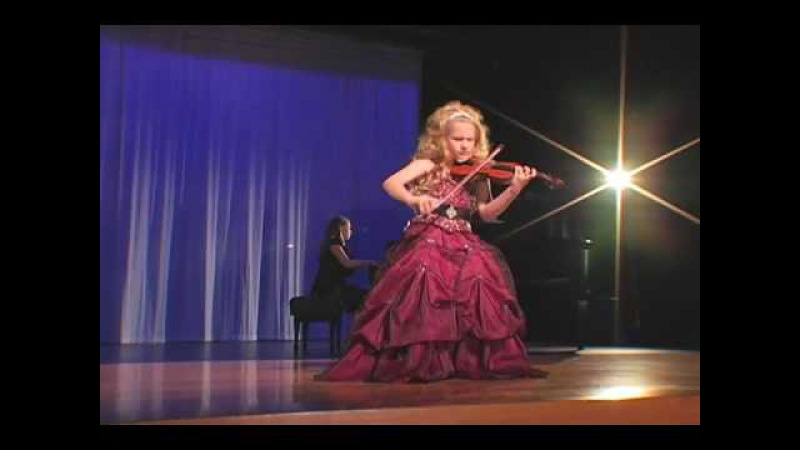 Incredible 7-Year Old Child Violinist Brianna Kahane Performs Csardas on a 1/4-Size Violin.