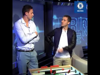 Nemanja Matic and @hazardeden10 on Friday night live. Epic moment. #cfc