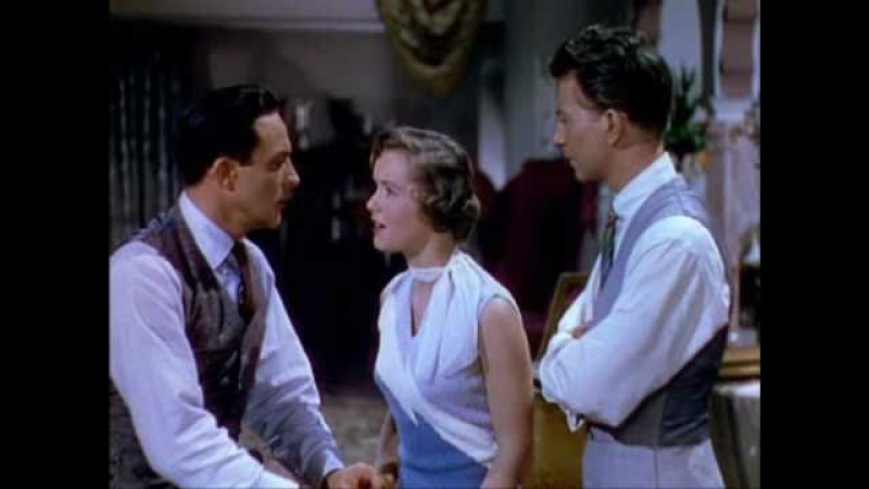 Singing in the rain (1952) - Debbie Reynolds kisses Gene Kelly and Donald O'Connor on the mouth