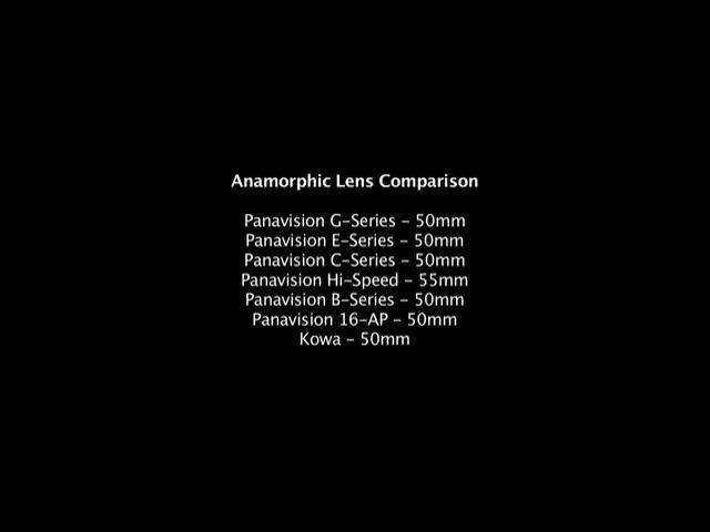 ARRI Alexa w/ Panavision Kowa Anamorphic Lenses: Anamorphic Lens Comparison