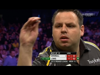 Adrian Lewis v Dave Chisnall (2015 Premier League Darts / Week 13)