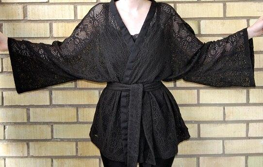 Как сшить кружевной халат своими руками