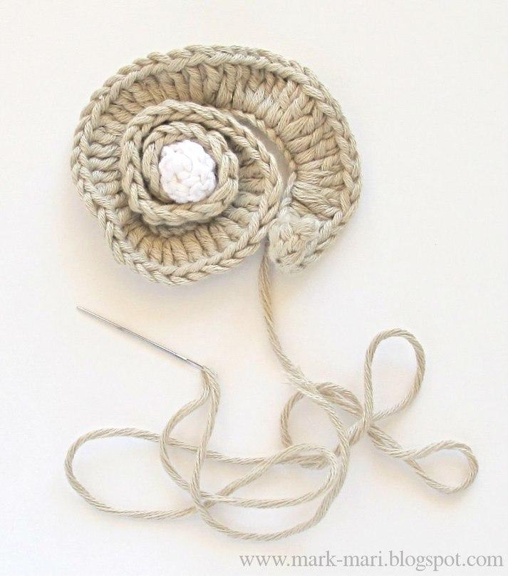螺旋小花朵的钩法 - maomao - 我随心动