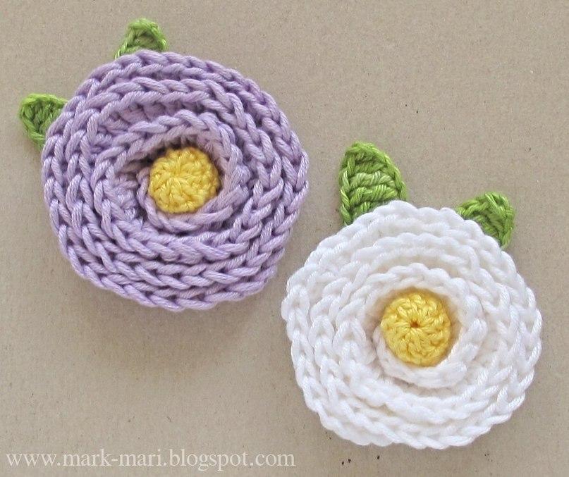 Цветы крючком из пряжи