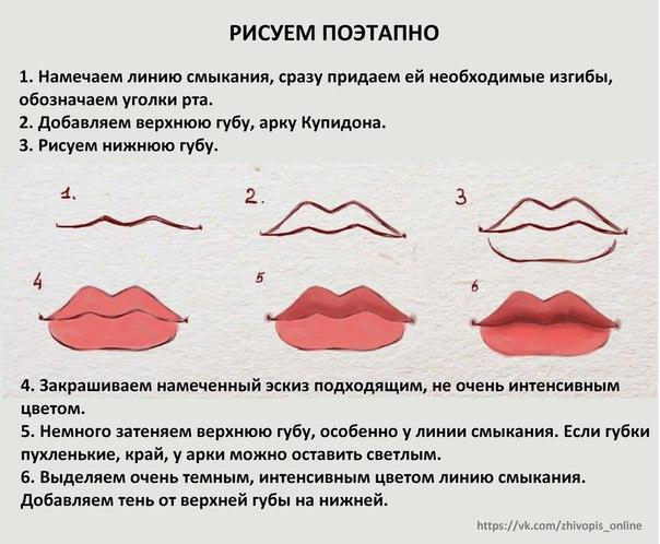 Как нарисовать губы кукле мастер класс
