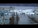 宮古港に押し寄せる津波