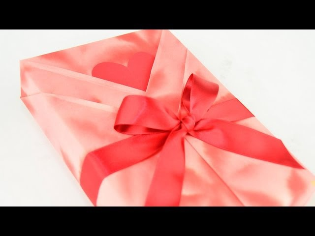 Kimono Style Japanese Gift Wrapping with a Heart Shaped Message Tag