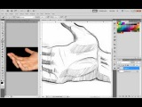 How to Draw Hands loosly from reference\\kjh