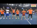 IPTL 2014 - Ana Ivanavic And Sania Mirza Dance To The Song Indiawale - Awesome Moves