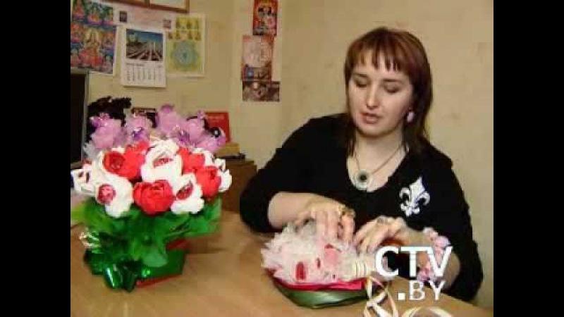 Букеты из конфет, Минск CTV 18 ноября 2010