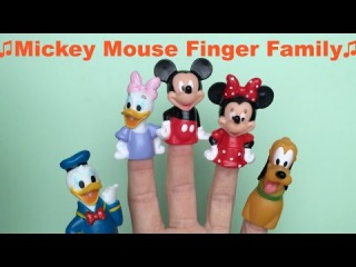 Mickey Mouse Finger Family Song Children Nursery Rhymes donald duck daisy duck minnie mouse pluto