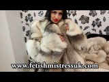 #Indian Sexy Hot women in a Fur coat # Fur Fetish