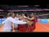 Радость игроков сб Россиии после победы над сб Японии и завоевание серебряных медалей  Гран При 2015 года