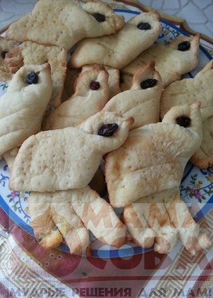 весеннее печенье жаворонки на кефире