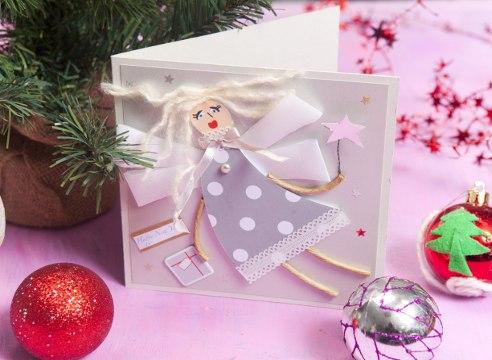 Рождественские открытки с ангелами своими руками