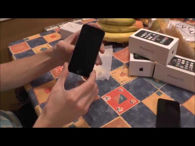 Китайсий iPhone5s OS7 gray Копия MTK6572 Распаковка,Тест. mobileremont.com