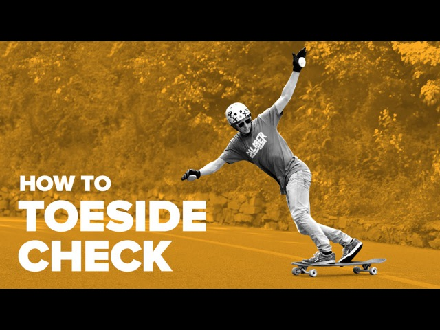 Как сделать тоесайд чек на лонгборде (How to Toeside Check on a longboard)
