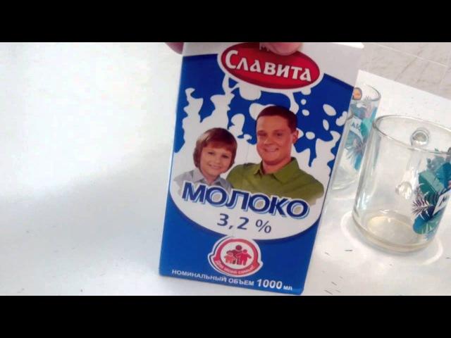 Вода вместо молока в Тверских магазинах.