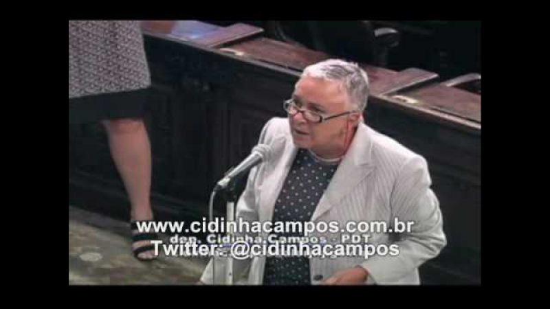 Revolta da dep. Cidinha Campos com os que mamam, principalmente dep. José Nader