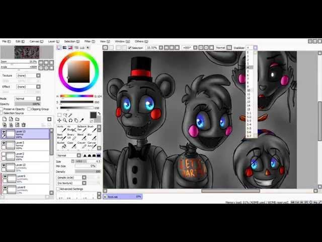 [SpeedPaint] Toys (Five Nights at Freddy's 2)