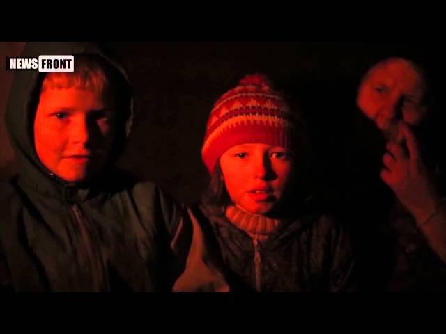 Новороссию сбереги! Русский русскому - помоги! – поют дети Донбасса в подвалах