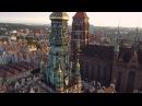 Gdańsk z lotu ptaka 4K Gdansk from above 4K Poland