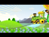 Паровозик. Музыкальный развивающий мультфильм для малышей - The train song for kids. Наше_всё!