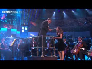The Doctor appears at the conductor's podium - Doctor Who Prom - BBC Proms 2013 - Radio 3