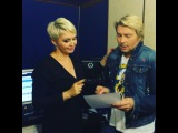 """Katya Lel on Instagram: """"Первое знакомство с нашим новым дуэтом с @nikolaibaskov ? в студии ! Готовим премьеру к 17 окт в Крокусе! Спасибо за хит @olegvladi !☺️✌?️"""""""