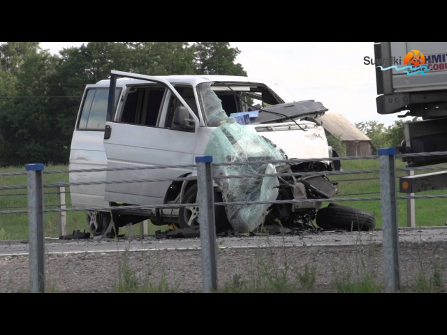 Wypadek na obwodnicy Augustowa. Trzy osoby ranne