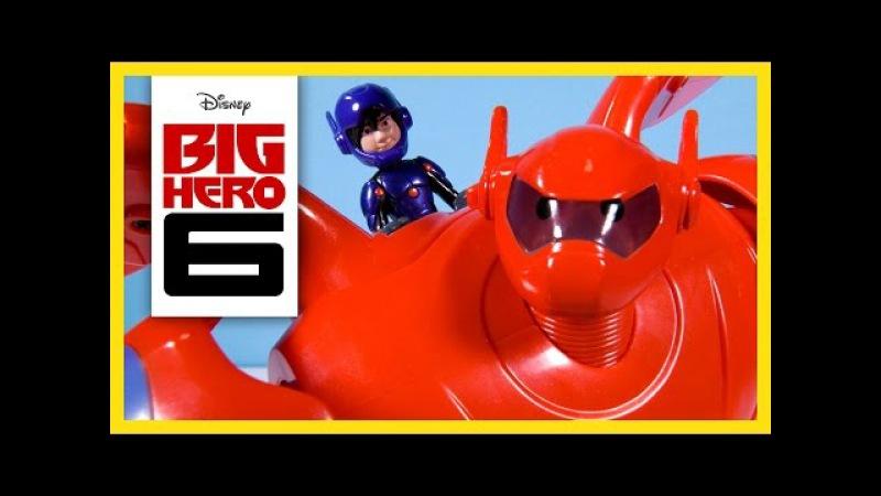 Disney Big Hero 6 Toys Baymax Deluxe Flying Baymax Hiro Hamada Action Figure Fist Launcher Bandai