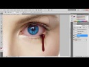 ►tuto photoshop◄ make blood in an eyes color it with Chnaider pop