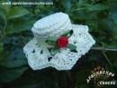 Imã / Lembrancinha de Nascimento em Croche - Mini Chapéu - Aprendendo Crochê