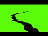 HD Animated 3D Greenscreen ground crack