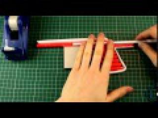 Как сделать пистолет из Бумаги    Стреляет более 6 sec