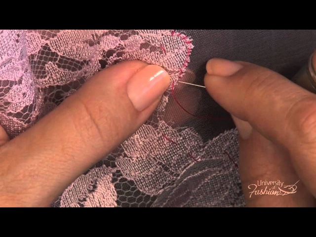 How to Make a Lace Applique by Using an Overcast Stitch