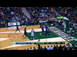 Philadelphia 76ers vs Milwaukee Bucks | Full Highlights | February 25, 2015 | NBA Season 2014/15