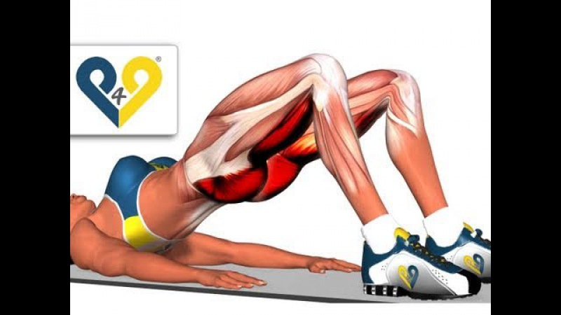BEST Tone Buttocks exercise - Reduce buttocks and thighs with Bridging exercise