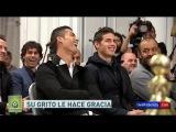 Cristiano Ronaldo y James Rodriguez se rien de una broma sobre el grito del Balón de Oro