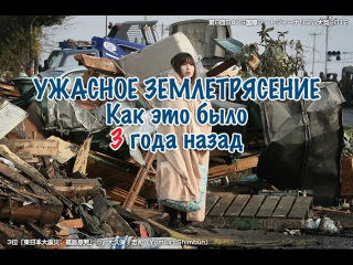 Ужасное землетрясение и цунами в Японии. Как это было 3 года назад. 大震災から3年経った