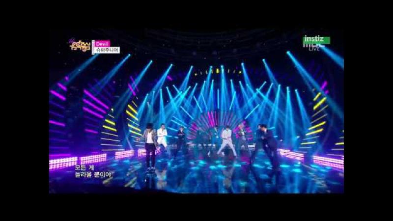 [Live HD 720p] 150718 Super Junior(슈퍼주니어) - Devil(데빌) @ Music Core Comeback Stage