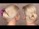 Праздничная/вечерняя/свадебная причёска прическа на средние и длинные волосы, б