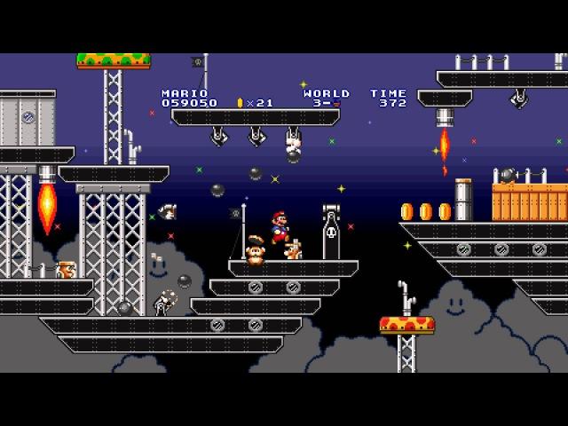Super Mario Maker - Mario 1 Airship Theme - 16-Bit Remake