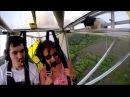 Cat woke up at flying a hang glider Кот проснулся на летающем дельтаплане