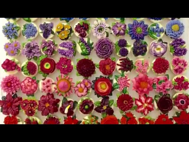 100 BUTTERCREAM Flowers Book teaser video