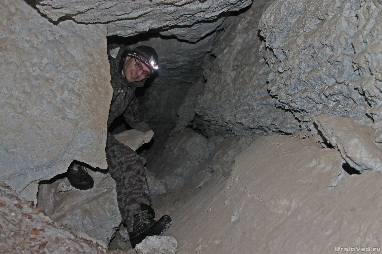 В пещере в Подкаменной горе