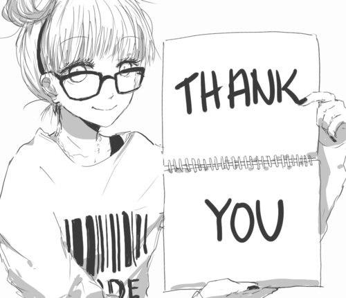 спасибо аниме картинки