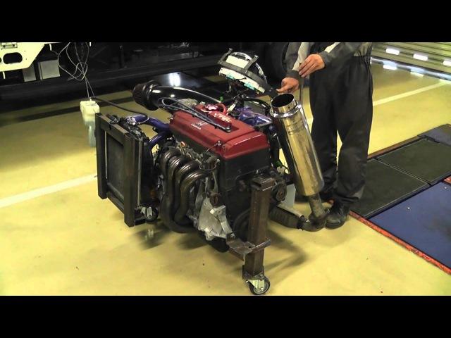 B16B ベンチエンジン カム切り替え VTEC作動その2