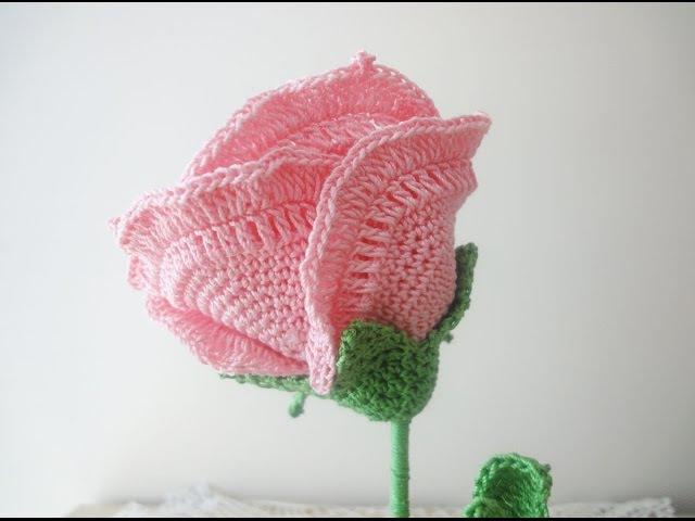 Большая роза Часть 3 Rose Crochet Part 3