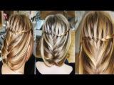 Праздничная/вечерняя/свадебная причёска с плетением, на длинные волосы, своими руками